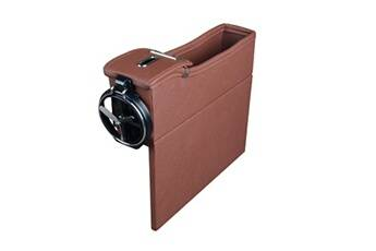 Generic Multi-fonctions boîte de rangement en cuir boîte change box car seat slit boîte de rangement 1493