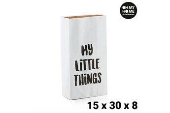 Euroweb Sac en papier my little things (15 x 30 x 8 cm) - objet déco
