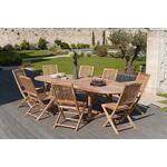 HEAVEN Table ovale extensible, 200 à 300 cm, 14 personnes, teck massif... par LeGuide.com Publicité