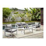 vente unique  Vente-unique Salon de jardin kiribati en aluminium et cordes:... par LeGuide.com Publicité