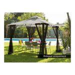 hesperide  Hesperide Jeu de 4 rideaux moustiquaires noir pour tonnelle... par LeGuide.com Publicité