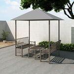 vidaxl  Vidaxl Chapiteau de jardin avec table et bancs 2,5x1,5x2,4m anthracite... par LeGuide.com Publicité