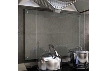 GENERIQUE Arts de la table et arts culinaires gamme moroni dosseret de cuisine transparent 80 x 60 cm verre trempé