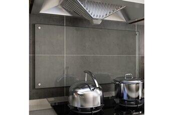 GENERIQUE Arts de la table et arts culinaires famille zagreb dosseret de cuisine transparent 100 x 50 cm verre trempé