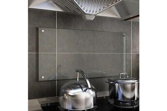 GENERIQUE Arts de la table et arts culinaires ensemble nicosie dosseret de cuisine transparent 80 x 40 cm verre trempé