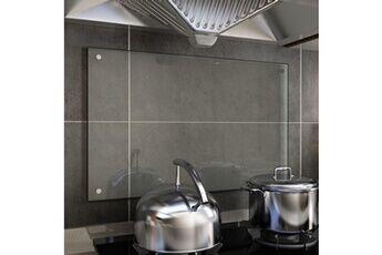 GENERIQUE Arts de la table et arts culinaires serie bogota dosseret de cuisine transparent 80 x 50 cm verre trempé