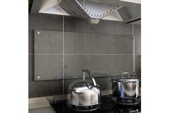 GENERIQUE Arts de la table et arts culinaires edition yamoussoukro dosseret de cuisine transparent 100 x 40 cm verre trempé
