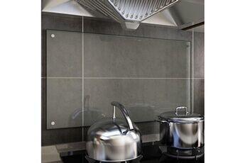 GENERIQUE Arts de la table et arts culinaires reference séoul dosseret de cuisine transparent 90 x 50 cm verre trempé