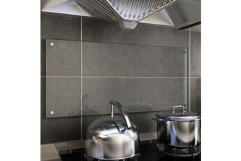 GENERIQUE Arts de la table et arts culinaires ligne pyongyang dosseret de cuisine transparent 90 x 40 cm verre trempé