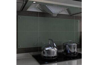 GENERIQUE Arts de la table et arts culinaires collection yaoundé dosseret de cuisine blanc 120 x 50 cm verre trempé