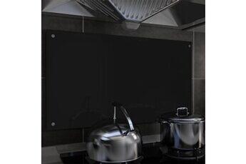 GENERIQUE Arts de la table et arts culinaires gamme abuja dosseret de cuisine noir 90 x 50 cm verre trempé