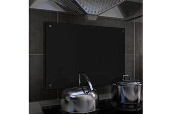 GENERIQUE Arts de la table et arts culinaires edition maputo dosseret de cuisine noir 70 x 50 cm verre trempé