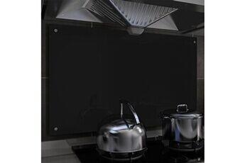GENERIQUE Arts de la table et arts culinaires edition mascate dosseret de cuisine noir 100 x 60 cm verre trempé