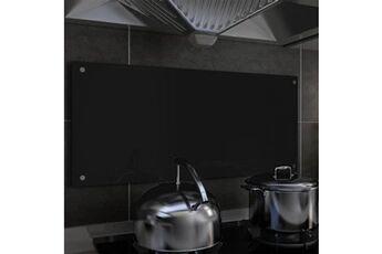 GENERIQUE Arts de la table et arts culinaires serie niamey dosseret de cuisine noir 90 x 40 cm verre trempé