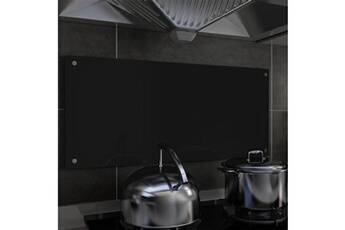 GENERIQUE Arts de la table et arts culinaires selection washington dosseret de cuisine noir 90 x 40 cm verre trempé