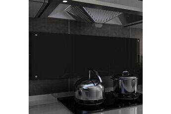 GENERIQUE Arts de la table et arts culinaires famille kampala dosseret de cuisine noir 120 x 40 cm verre trempé