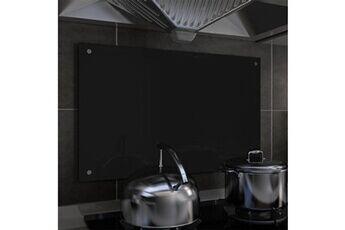 GENERIQUE Arts de la table et arts culinaires categorie katmandou dosseret de cuisine noir 80 x 50 cm verre trempé