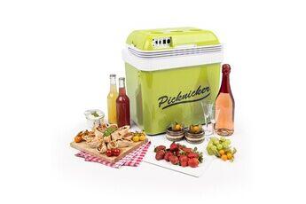 KLARSTEIN Big picknicker glacière thermo-électrique 24 litres pour maintenir au froid ou au chaud - classe a++ - verte