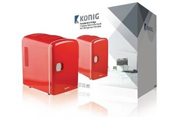 Konig Mini frigo portable 50 w 4 l rouge