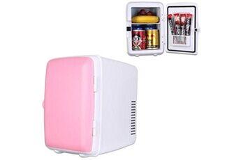 Prixwhaou.fr Réfrigérateurs-véhicule auto portable mini refroidisseur et réchauffeur 4l réfrigérateur pour voiture et maison, tension: dc 12v / ac 220v (rose)