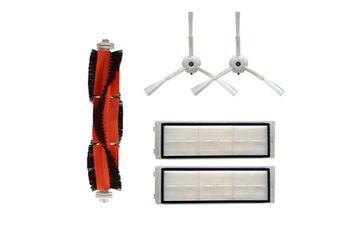 Brosse principale + 2 brosses latérales + 2 filtres pour aspirateur robot xiaomi mi roborock s50 @he040