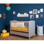 Ma Chambre d'Enfant Lit bébé évolutif Pepper Gris et bois 70x140... par LeGuide.com Publicité