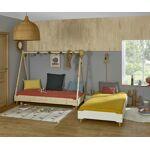 Ma Chambre d'Enfant Lit enfant avec pieds et sommier Happy Blanc... par LeGuide.com Publicité