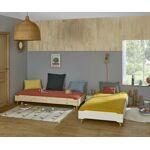 Ma Chambre d'Enfant Lit enfant avec pieds et matelas Happy Blanc... par LeGuide.com Publicité