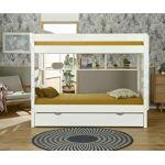 Ma Chambre d'Enfant Lit superposé ado Kids Blanc 90x190 cm Il se... par LeGuide.com Publicité
