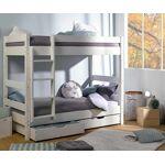 Ma Chambre d'Enfant Lit superposé ado Wood Blanc 90x190 cm Votre... par LeGuide.com Publicité