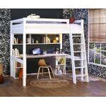 Ma Chambre d'Enfant Lit mezzanine enfant 2 places Cancun Blanc 140x190... par LeGuide.com Publicité