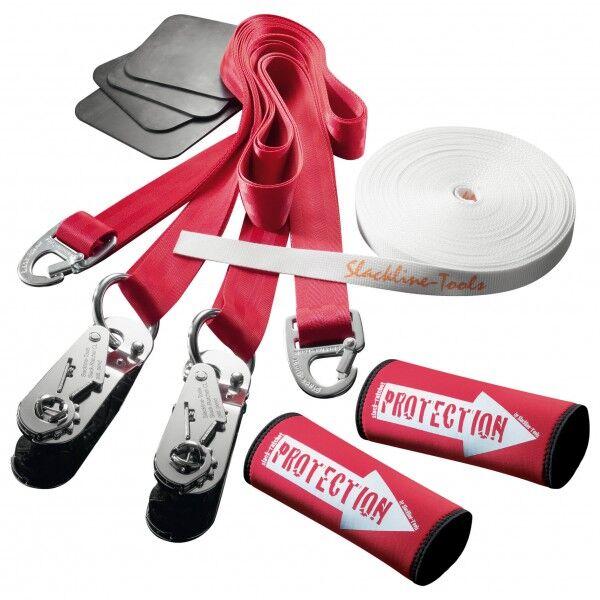 Slackline-Tools - Clip'n Slack Set 15 m - Slackline taille 15 m, rouge/blanc