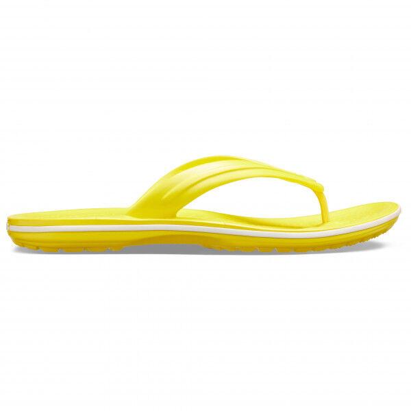 Crocs - Crocband Flip - Sandales de marche taille M5 / W7, jaune/orange