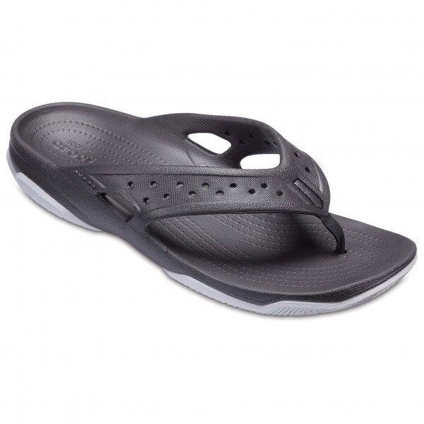Crocs - Swiftwater Deck Flip - Sandales de marche taille M11, gris
