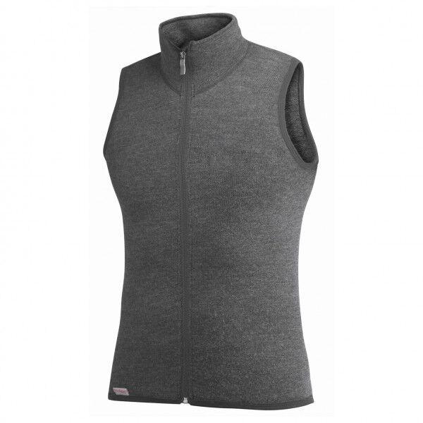 Woolpower - Vest 400 - Gilet en laine mérinos taille XXS, noir/gris