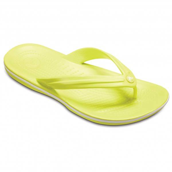 Crocs - Crocband Flip - Sandales de marche taille M10 / W12, jaune