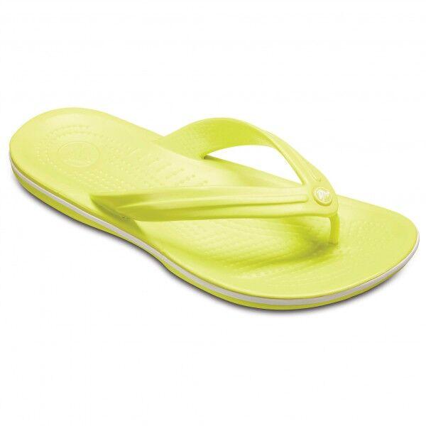 Crocs - Crocband Flip - Sandales de marche taille M9 / W11, jaune