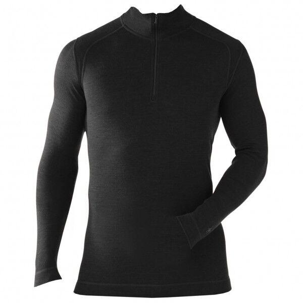 Smartwool - NTS Mid 250 Zip T - Sous-vêtement mérinos taille S, noir