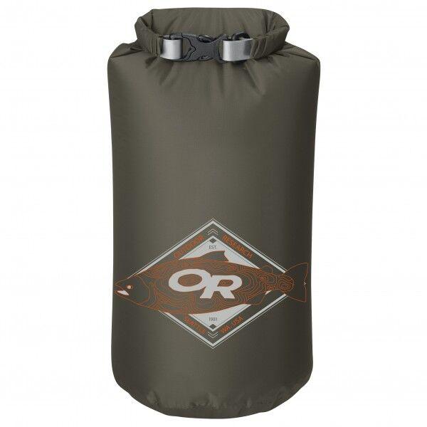 Outdoor Research - Graphic Dry Sack - Housse de rangement taille 20 l, vert olive/noir