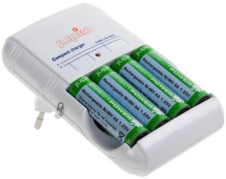 Jupio Chargeur Jupio avec 4 piles AA Direct Power incluses