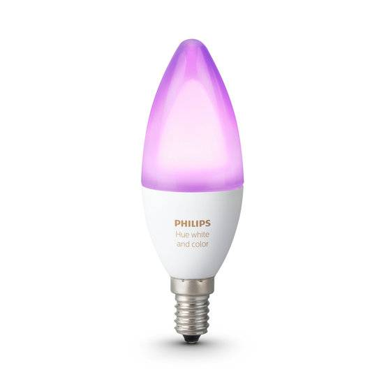 Philips Hue White and Color Ambiance LED E14 6.5W Smart lamp - White 16 millions de couleurs