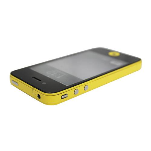 GadgetBay Décor Color Edge iPhone 4 4s Autocollants Pour Peau Skin - Jaune