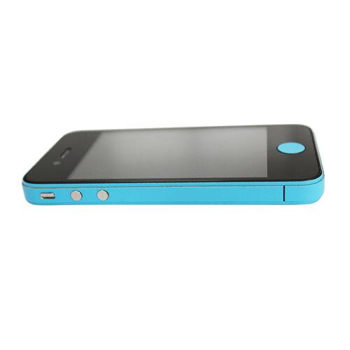 GadgetBay Autocollants pour voiture Decor Color Edge iPhone 4 4s Skin - Bleu clair