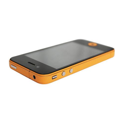 GadgetBay Autocollants pour pare-chocs Decor Color Edge iPhone 4 4s Skin - Orange
