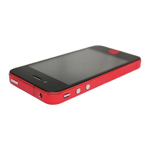 GadgetBay Autocollants pour pare-chocs Decor Color Edge iPhone 4 4s Skin - Rouge
