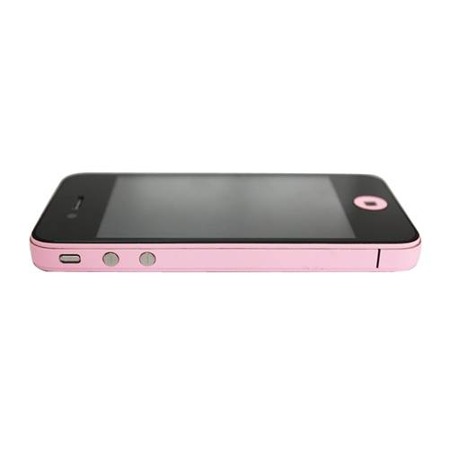 GadgetBay Décor Color Edge iPhone 4 4s Autocollants Pour Peau Skin - Rose