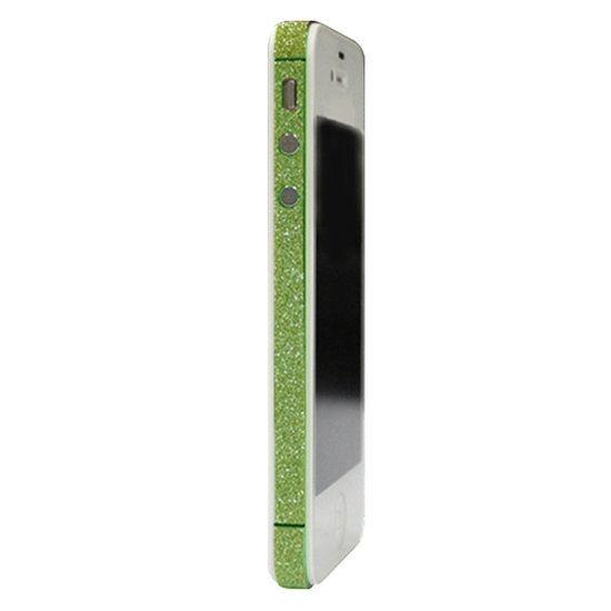 GadgetBay Skin iPhone 4 4s glitter Autocollants pour voiture Color Edge glamour - Vert