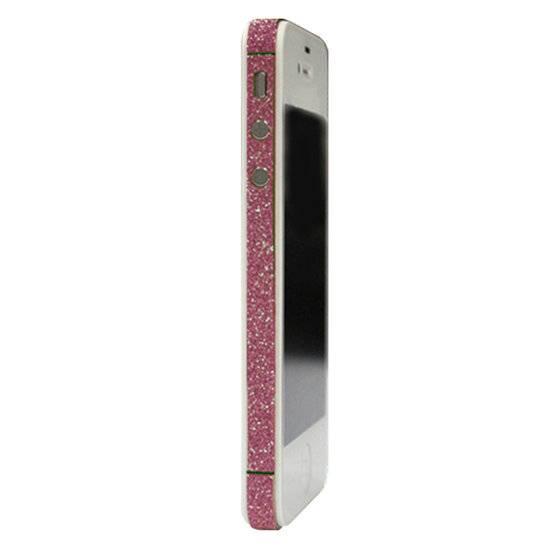 GadgetBay Skin iPhone 4 4s glitter Autocollants pour voiture Color Edge glamour - Rose