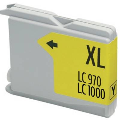 BROTHER Cartouche compatible BROTHER LC1000 jaune