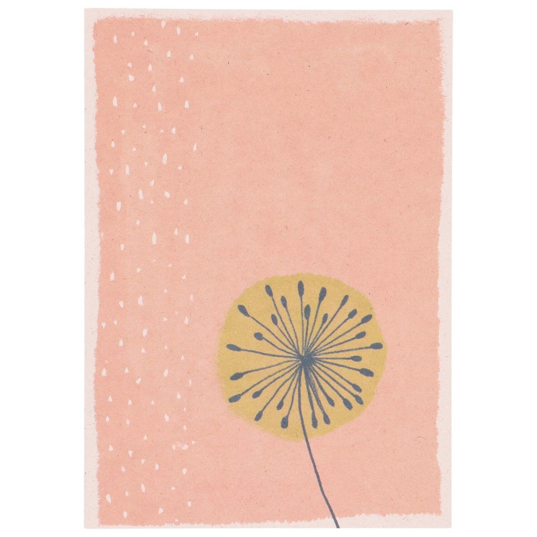 Dille&Kamille Carte, papier végétal, pissenlit, 14,8 x 10,5 cm